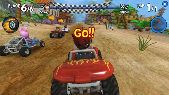 Гоночная игра Beach Buggy Racing в новом формате