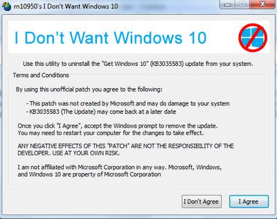 Как удалить из трея Получить Windows 10
