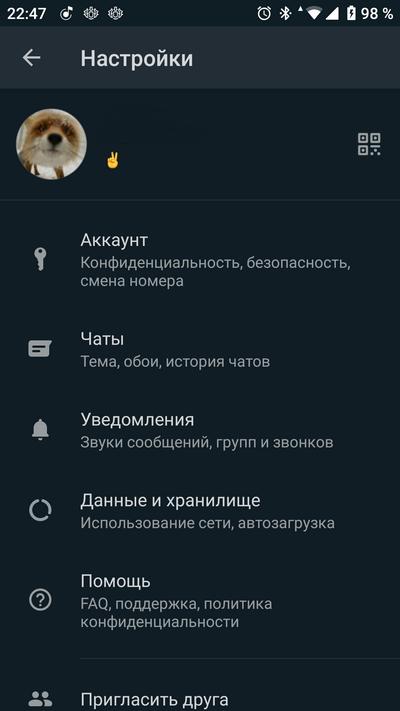 Защита WhatsApp отпечатком пальца